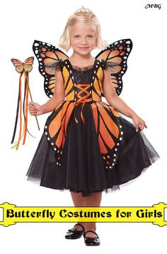Monarch butterfly costumes fit perfectly with the orange and black theme of Halloween, and come in many styles and sizes to fit infants, girls, toddlers, & women. Find monarch butterfly costume ideas here...