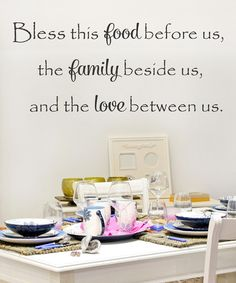 Look at this 'Bless This Food' Decal on #zulily today!
