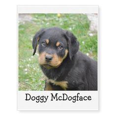 #Doggy McDogface Rottweiler Puppy Temporary Tattoos - #rottweiler #puppy #rottweilers #dog #dogs #pet #pets #cute