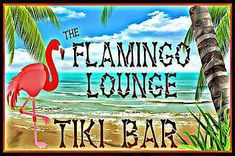 Tropical Tiki Bar Flamingo Lounge Vivid Distressed All Weather Metal Sign Made In Hawaii, USA Luau Bar Pub Martini Mixed Drink Happy Hour Beach House Party Hot Tub Pool Welcome Margaritaville Tiki Bar Signs, Tiki Bar Decor, Pool Signs, Flamingo Art, Pink Flamingos, Luau Pool Parties, Tropical Patio, Tropical Bedrooms, Tiki Lounge