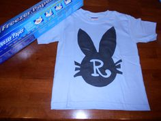 made Reece an Easter shirt (used a freezer paper stencil)