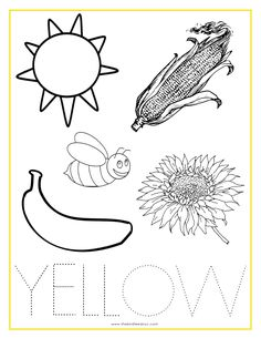 YELLOW Color Activity Sheet  -Repinned by Totetude.com