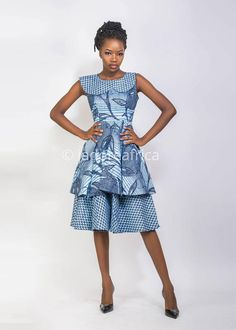 Stylish South African Shweshwe Dress Designs - Loud In Naija South African Dresses, African Print Dresses, African Print Fashion, African Wear, African Outfits, African Clothes, Latest Ankara Dresses, Shweshwe Dresses, African Traditional Dresses
