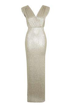 Cutout Metallic Bodycon Dress | Shop Maxi Dresses at Papaya Clothing