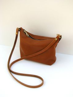 Leather crossbody bag / Minimalist bag / Small leather bag ...