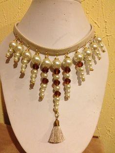 Gargantilla de perlas y cristal by divinaty
