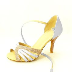 Latin Customizable Women's Sandals Satin and Leatherette Dance Shoes (More Colors) – USD $ 34.99