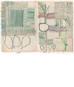 sharon etgar thread drawings 2012 13x19cm #book_arts #sewing