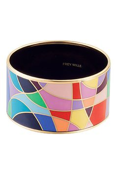 Bracelet | Frey Wille.  Frey Wille is an enamel jewellery manufacturer based in Vienna, known for its artistically hand decorated designs that are based on the works of 19th and 20th century artists.