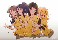 Love Live! Sunshine!! Dia Kurosawa, Kanan Matsuura, Mari Ohara, You Watanabe