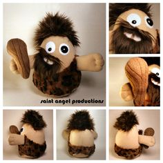 Cornelius the Crazy Caveman STUFFED Plushie by ~Saint-Angel on deviantART