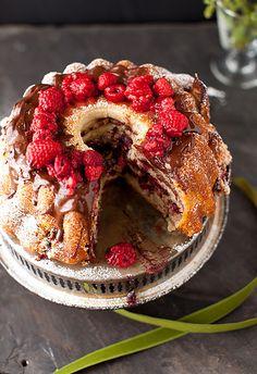 Raspberry Chocolate Coffee Cake - Sweet Weekend by Yelena Strokin, via Flickr