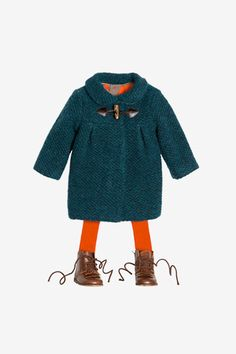 KNITTED COAT WITH TOGGLE 49.9 USD  MOON PRINT DRESS 39.9 USD  RIBBED TIGHTS 9.9 USD