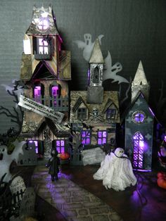 All mine designs, by Sharon Smith, Tim Holtz inspired. New village, and other dwellings.
