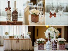 Шоколадная свадьба Оформление стола жениха и невесты, шампанского, бокалов, гостевых композиций