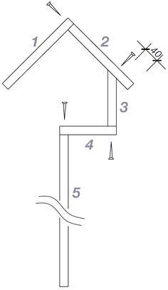 futterhaus bauplan bauanleitung f r ein vogelh uschen aus holz free bird feeder plans and. Black Bedroom Furniture Sets. Home Design Ideas