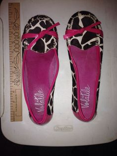Women's Volatile Brown/Pink Animal Print Flats Size 8.5 #VOLATILE #LoafersMoccasins