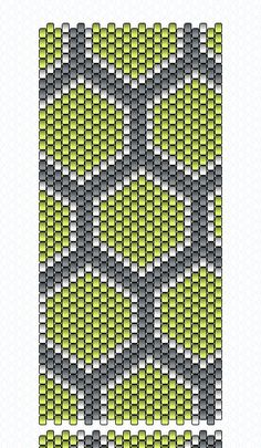 Play with patterns and colors in this lovely sleek peyote stitch bracelet. Made entirely out of bead woven seed beads, with a matching toggle clasp.