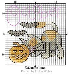 Cross Stitch Embroidery, Cross Stitch Patterns, Cat Calendar, Cross Stitch Animals, Stuffed Animal Patterns, Farm Animals, Cat Stuff, Halloween, Dogs