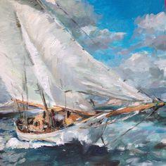 Mei, Sailboats, Ships, Painting, Sailing Yachts, Boats, Painting Art, Sailboat, Paintings