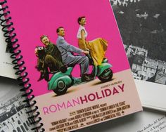 Roman Holiday Spiral Notebook 4x6 by Ciaffi on Etsy, $11.50