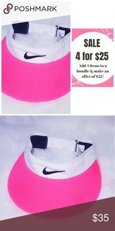 9ffe3509 ❤4 for $25❤ Pink White Nike Golf Visor Hat Ladies Nike Visor One Size