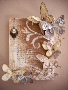 weve got a bunch of throw-away books in the department.  im researching crafts made from old books-isnt this pretty? crafting