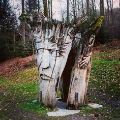 When art gets alive #forest#Germany#schwarzwald#face#woodart#photography