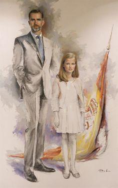 El primer retrato de la Princesa Leonor ha sido revelado. Princess Leonor's first portrait has been unveiled.        El retrato fue ins...