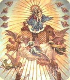 Madonna, Painting, Loreto, Roman Calendar, Hail Mary, Virgos, Painting Art, Paintings, Painted Canvas