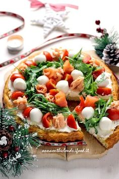 Crostata salata con base morbida - Anna On The Clouds Quiche, Dinner With Friends, Antipasto, Food Festival, Buffet, Winter Food, Snacks, I Foods, Vegetable Pizza