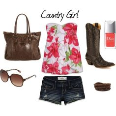 Country summer outfit! LOVE.