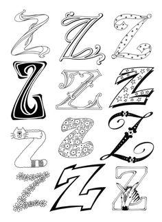 Dibujo para imprimir : Figuras y formas - Alfabeto - Letra z numéro 313434