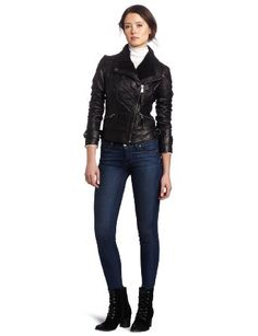 Amazon.com: MICHAEL Michael Kors Womens Asymetrical Leather Jacket, Black, X-Large: Clothing