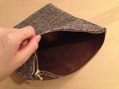 毛糸ピエロ プレミアム コットンでクラッチバッグ完成!! | 手編みニットでコーディネート
