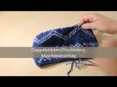 Doubleface stricken - verständlich erklärt - Maschenanschlag - YouTube