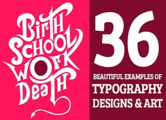 36 Typefaces Typography Designs and Posters #typographydesign #typefaces #modernfonts #stylishfonts