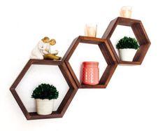 THE HONEYCOMB Set of 9 Hexagon Cubbies with от EONeyeofnature