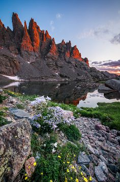 Sky Pond, Glass Lake, and the Sharks Tooth Formation ~ Rocky Mountain National Park, Colorado