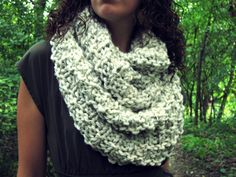 Chunky Knitted Cowl Scarf Unisex Bulky Hipster by AutumnAndAmber