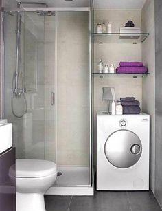 kleines bad waschmaschne duschkabine badmöbel