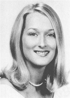 Homecoming queen Meryl Streep posed for a high school yearbook photo in the late '60s.