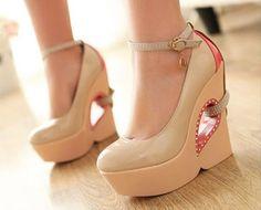 Fashion U-Shape Heels Platform Womens Rhinestone buckle ankle shoes boots | eBay      Super Cute !!!