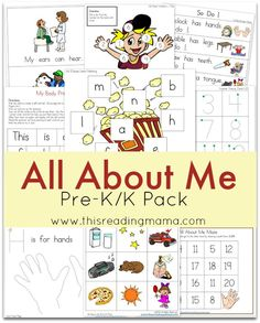 This Reading Mama has a FREE All About Me Pack. It includes  more than 15 activities, developed to practice basic sight words {with TW