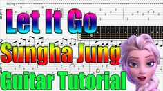 How to play Let It Go  - Easy Guitar Tutorial