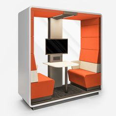 Hush Open S | Open acoustic pod for meetings | My Office Pod Cable Grommet, Office Pods, Breakout Area, Translucent Glass, Open Office, Polyurethane Foam, Hush Hush, Benches, Acoustic
