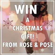 Simply upload a photo of yourself wearing your purchase from roseandpose.com to FB,twitter,instagram or PINTEREST and tag us for a chance to win a Christmas gift!