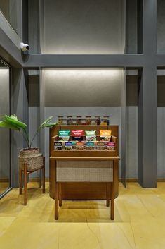 Retail Store Design Synchronously Allows Simplicity And Playfulness | TRAANSPACE - The Architects Diary Showroom Interior Design, Retail Store Design, Liquor Cabinet, House Design, Storage, Architects, Console, Furniture, Projects