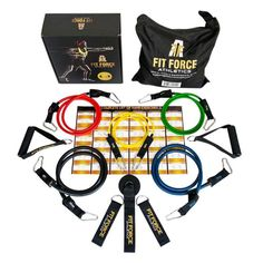 1 Resistance Bands Exercise Equipment Workout Set 15 Pcs Home Gym Exercise Bands For Travel Rehab Crossfit Pilates Physical Therapy 2 Free Gifts With Box -- You can get additional details at the image link. (This is an affiliate link) Best Resistance Bands, Resistance Band Exercises, Strength Training Equipment, Gym Training, Workout Gear, No Equipment Workout, Fitness Equipment, Workout Fitness, Health Fitness