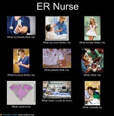 ER nurse - what they think I do